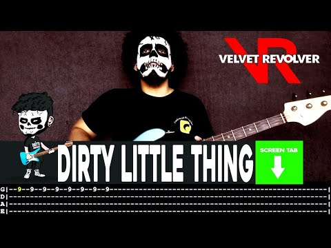 Velvet Revolver - Dirty Little Thing (Bass Cover by Cesar Dotti W/Tab)