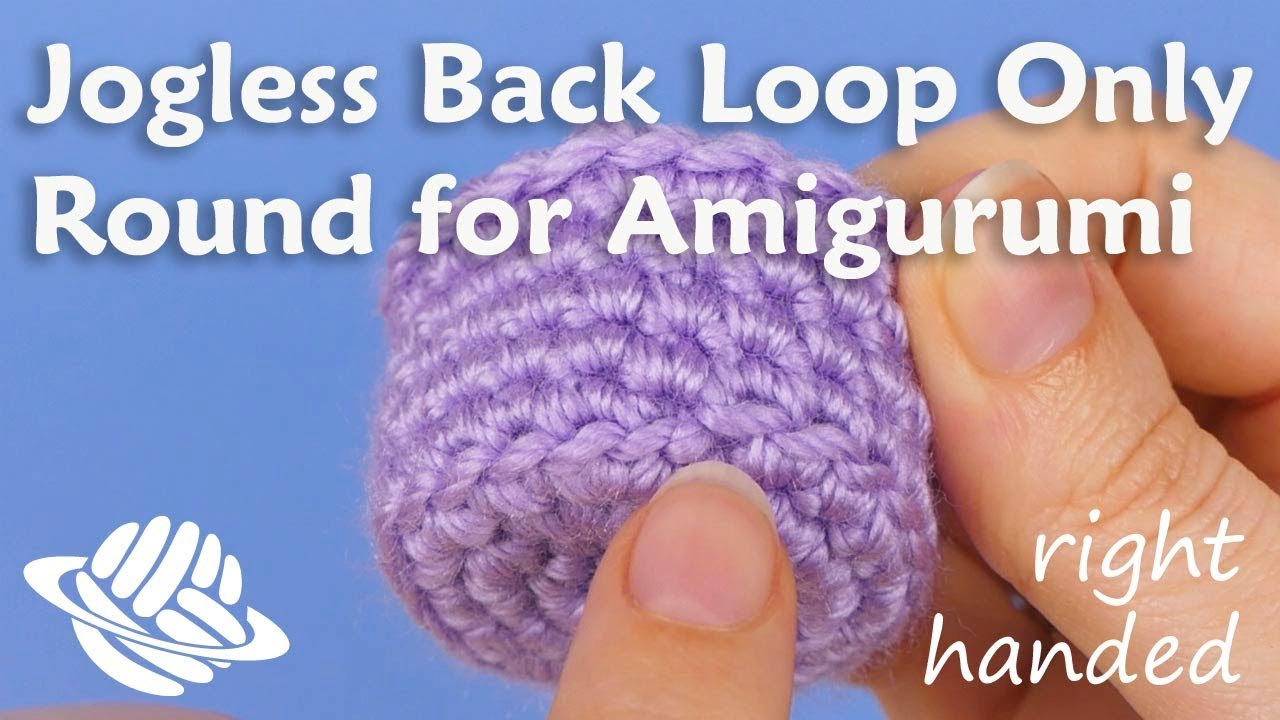 Jogless Back Loop Only Round For Amigurumi Right Handed Version