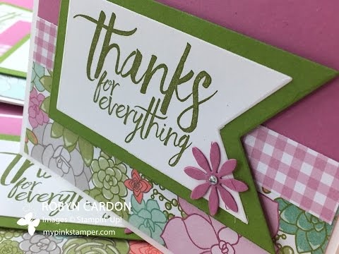How to make a Spring Succulent Thanks Card - Episode 567