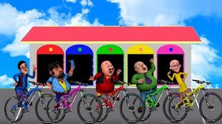 vuclip Learn Colors and Number with Motu Patlu Chingam John, The Don Ghasitaram Driver Bike Finger Family