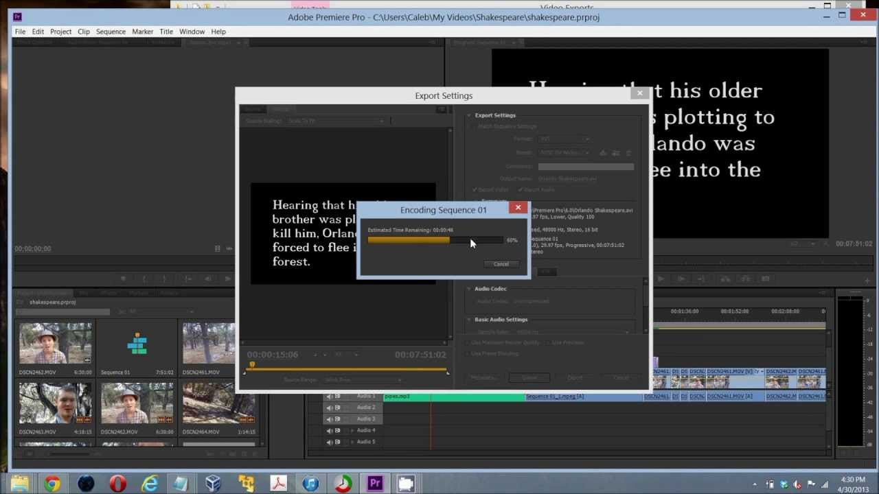 How To Export A Project File Video