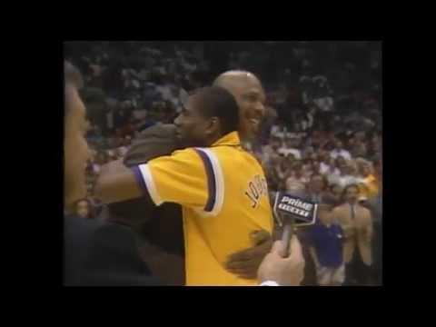 Kareem Abdul-Jabbar Lakers Jersey Retirement – 25 Year Anniversary