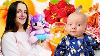 Литл Пони готовит фруктовый салат. Видео для детей