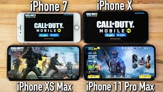 Call Of Duty Mobile On 4 Iphone Generations Youtube