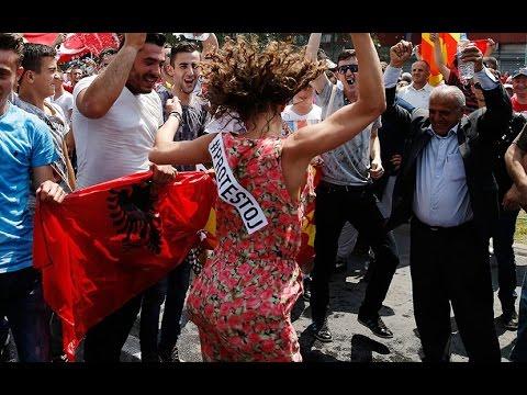 La capital de Macedonia, blanco de protestas de la oposición