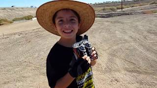 50cc Honda Dirt Bike - 6 year old jumping and going fast