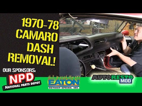 Camaro Dash Removal 1970 Episode 348 Autorestomod