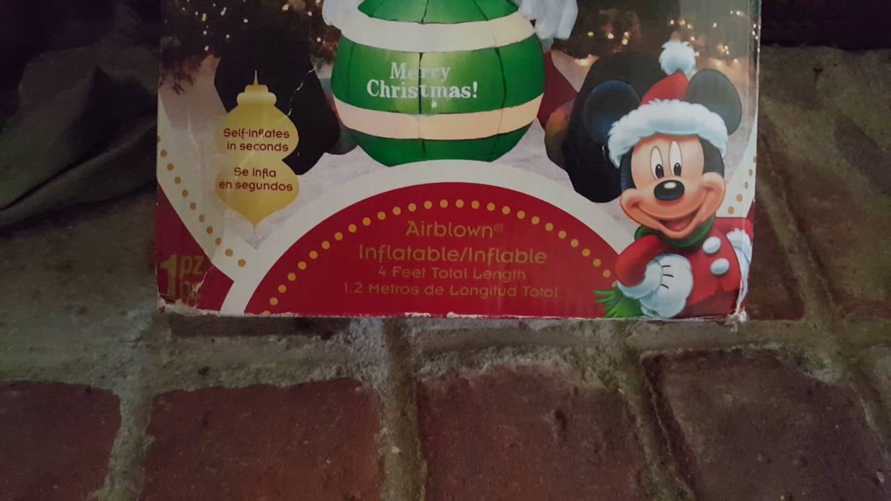 My 4ft mickey mouse Christmas inflatable - YouTube