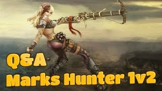 5.4.8 Marks Hunter PvP (1080p ᴴᴰ) - Q&A + 1v2 Arenas - World of Warcraft BattleMasterPvP