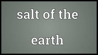 Salt of the earth Meaning