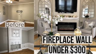 Home Improvements  Living Room Makeover   Diy Fireplace