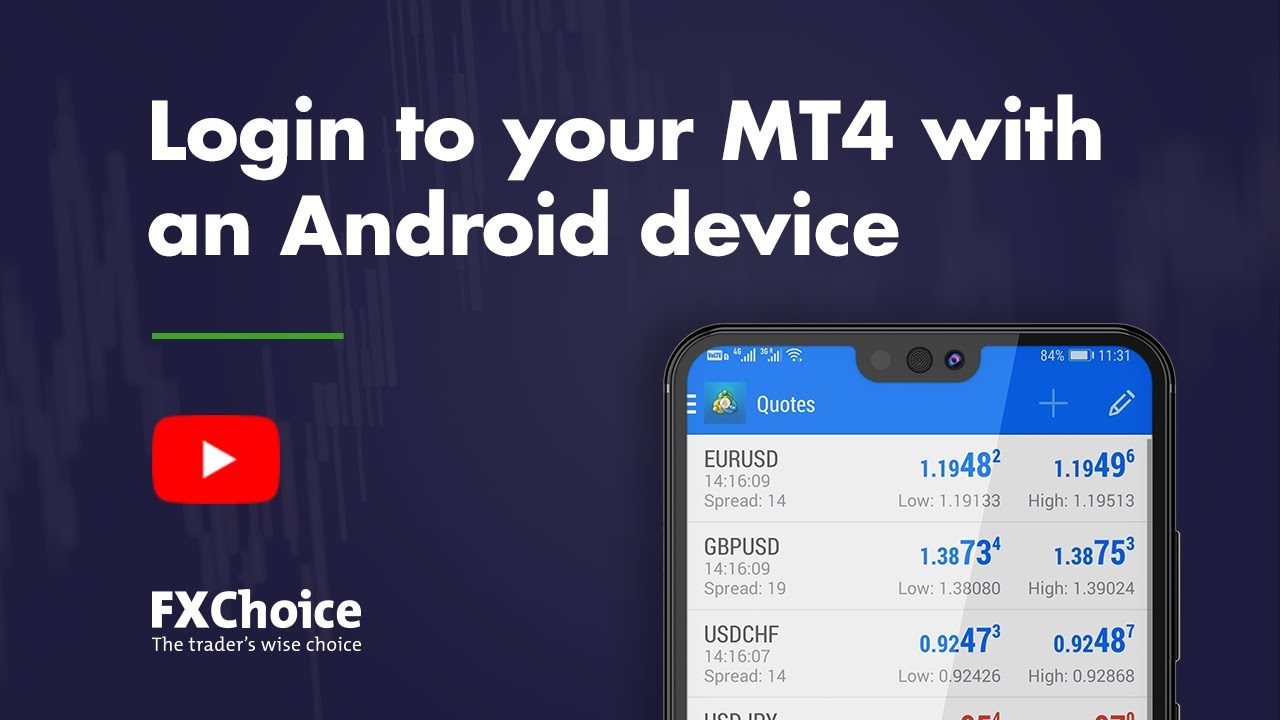 Logging In To Your Mt4 Account With An Android Device Youtube