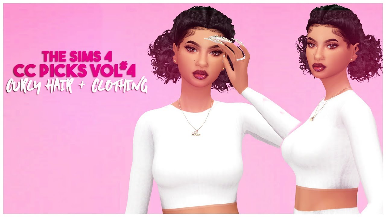 💕the sims 4 cc picks vol 4 clothes nails makeup curly hair full cc list💜