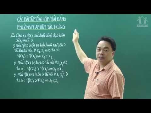 Tổng hợp giải bằng phương pháp hàm đặc trưng – Lớp 12 – Thầy Lê Bá Trần Phương – PEN-M – 2019