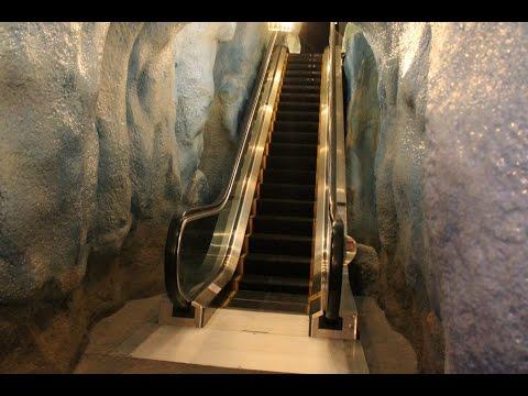 An Escalator in a Glacier! Themed MontgomeryKONE Escalator-Pequot Museum: Mashantucket, CT