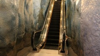 An Escalator in a Glacier! Themed MontgomeryKONE Escalator-Pequot Museum: Mashantucket, CT