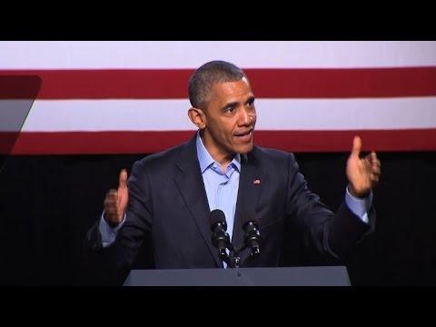Obama condemns Trump's 'divisive' rhetoric