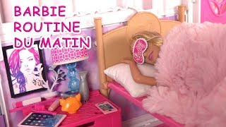 Barbie Morning Routine du Matin ♥ Barbie House Bedroom Morning Routine Video