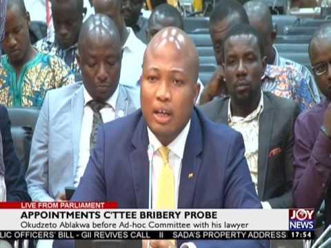 Okudzeto Ablakwa before Ad-hoc Committee with his lawyer