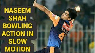 Naseem shah bowling action in slow motion  ||  Naseem shah bowling