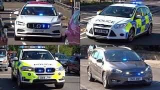 ARMED Police, Unmarked and Response cars responding! - BRAND NEW Volvo V90!
