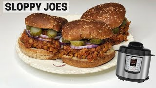 SLOPPY JOES IN THE INSTANT POT! Lentil Sloppy Joe Recipe (vegan)