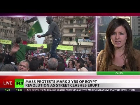 Neverending Protest: Egypt marks 2 yrs of revolution with fresh clashes