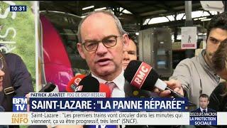 Gare Saint-Lazare: la panne réparée, le trafic