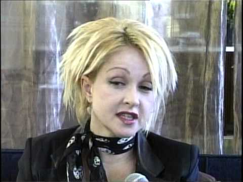 Cyndi Lauper  on Chartbusting 80s in 2004