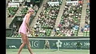 Maria Sharapova vs Claudine Schaul Tokyo 2003 Part 3