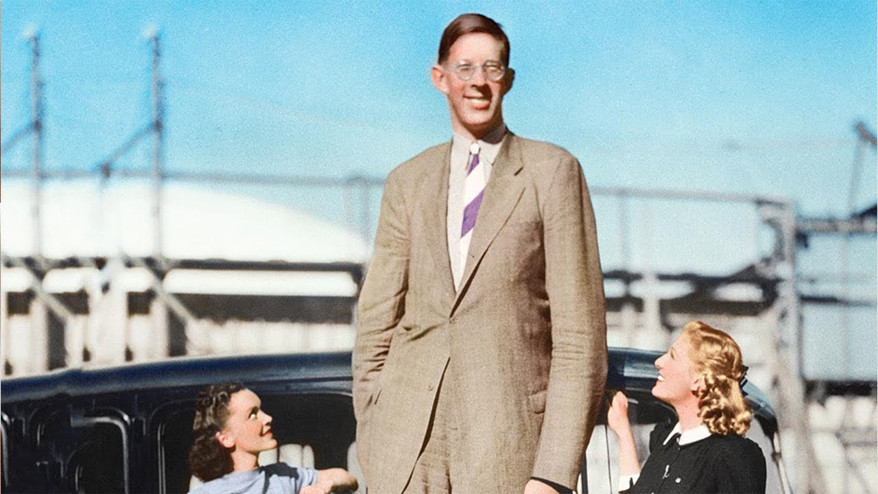 Rare Footage Discovered Of World's Tallest Man To Have Ever Lived