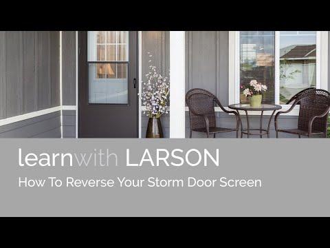 How To Reverse Your Storm Door Screen Youtube