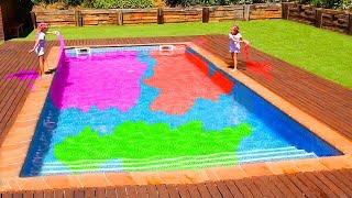 Las Ratitas aprenden colores en el agua y en colegio
