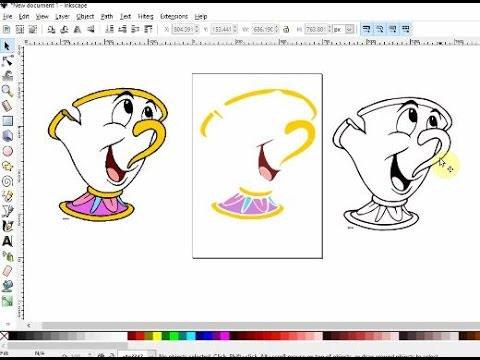 Tracing and making colored layers in Inkscape