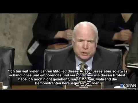 Versuch Kissinger zu verhaften//McCain betitelt Aktivisten als niederträchigen Abschaum!