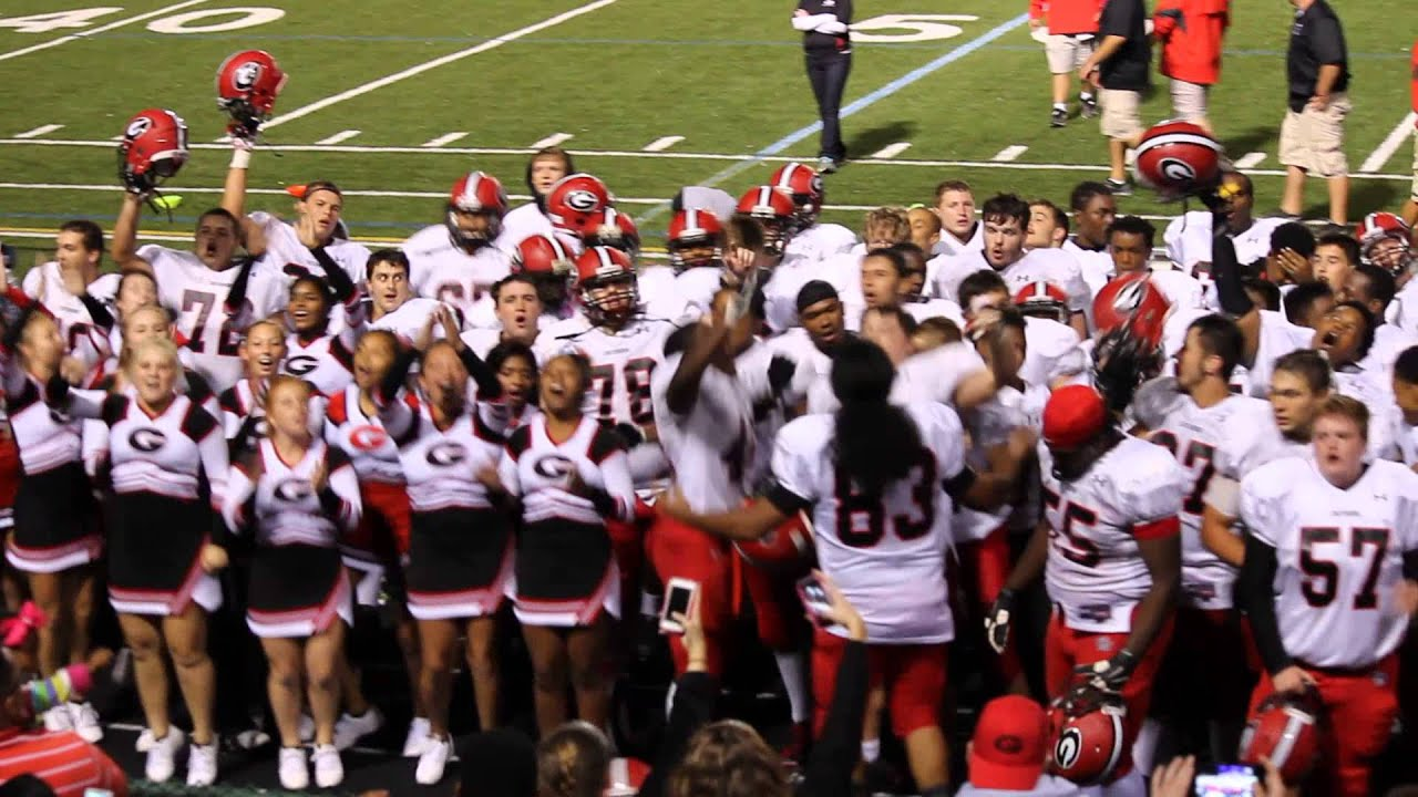 gmhs cruiser football win over westerville north  end of game celebration