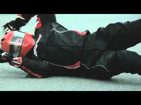 Motorcycle Safety Protective gear in action - YouTube
