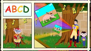 ABC Song For Kids - Stories For Kids - Nursery Rhymes