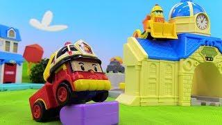 Toys video for kids. Robocar Poli toys.