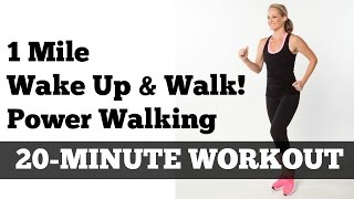 "1 Mile Walk Fast | Low Impact Indoor Power Walking Workout ""Wake Up and Walk!"""