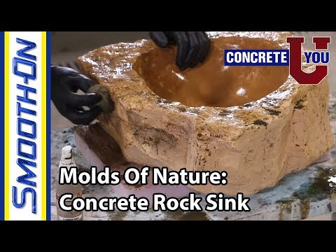 Molds of Nature: How to Make a Concrete Rock Sink