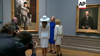 First Ladies Trump, Macron tour US National Gallery of Art