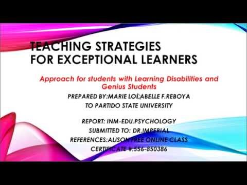 Teaching Strategies For Teaching Exceptional Learners Overview
