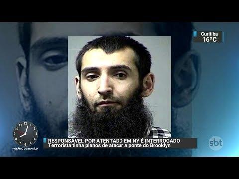 Responsável por atentado em Nova York é interrogado | SBT Brasil (02/11/17)
