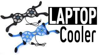 Mini Foldable Laptop Cooling Pads With Double Fans