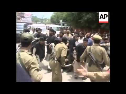 Protesters clash with security forces as during strike