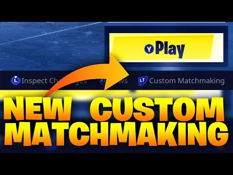 what does custom matchmaking do