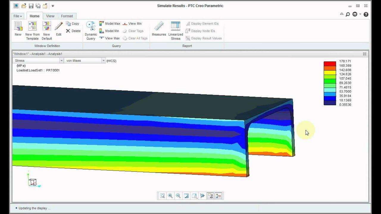 creo 3.0 tutorial Analysis of C Chaneel simulation