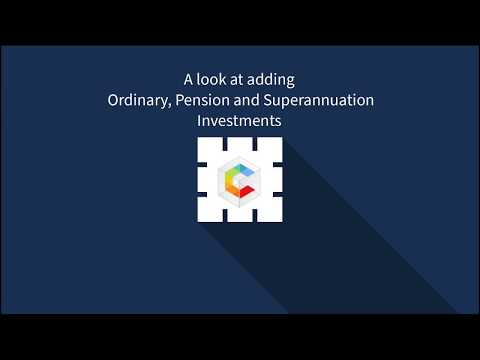 Adding super, pension and ordinary investments