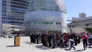 Assyrian Flag Raising Ceremony at the City Hall  San Jose California